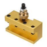 Machifit 1/4-3/8 Inch 20x25x50mm Aluminum Turning and Facing Holder for Quick Change Tool Post Holder Gold