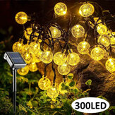 98.5FT 30M Outdoor 300LED Solar Fairy String Light 8 Modes Patio Landscape Lawn Waterproof Garden Yard Lamp