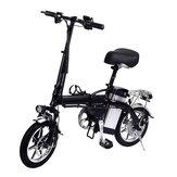 [EU Direct] Lamtwheel 12Ah 36V 350W 14 Inci Sepeda Lipat Moped 35km / h Kecepatan Tertinggi 30-35KM Jarak Tempuh Sepeda Listrik