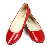 US Size 5-11 Women Flats Casual Comfortabele Pointed Toe PU Fashion Slip On Flat Loafers Shoes