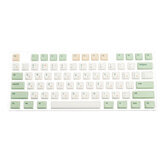 134 Tasten Retro Milk Green Keycap Set XDA-Profil PBT Sublimation Keycaps für 61/64/87/108 Tasten Mechanische Tastaturen