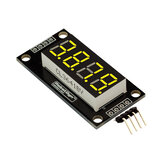 0.36 Inch 4-Digit LED Display Tube 7-segments TM1637 30x14mm Yellow Decimal Point Module