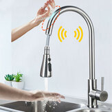 Mezclador de grifos de fregadero de cocina de acero inoxidable Smart Touch Sensor Grúa de grifo mezclador de agua fría y caliente