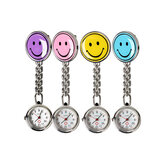 Fascino portatile Smile Face Nuse Watch Orologi da taschino in acciaio inossidabile