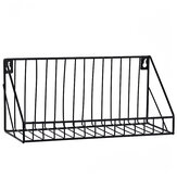 Vintage Creative Wall Storage Rack Industrial Style Iron Shelf Holder Display Home Decor