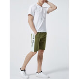 Hommes Shorts à capuche manches taille élastique Shorts à cordon Costume décontracté Deux pièces