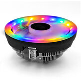 COOLMOON CH-M105 Silent Desktop Computer 12cm  CPU Air Cooling Fan RGB Rainbow Colors LED Light Heatsink for i5 AMD CPU