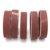 Cinghie di smerigliatura a graniglia di 5Pcs 80/100/150/240/320 Larghezza 25mm Cinghia di levigatura di ossido di alluminio