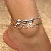 Retro Style Wave Spray Anklet