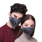 Ciclismo ao ar livre Lavável Boca Rosto Máscara PM2.5 Filtro Com Purificador Elétrico Unisex Caminhadas Corrida
