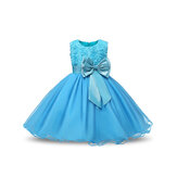 Flower Toddler Girls Kids Wedding Formele prinsessenjurk