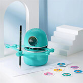 Quincy Drawing Robot Artist Maths Spelling Learning Include 4 Books 80 Cards Educational Smart Robot Improve Creativity Hand-on Skills Intelligent Automatic Robot for Kids