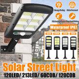 60/120COB 120/213LED Solar Street Light PIR Motion Sensor Waterproof IP67 Wall Lamp for Outdoor Garden Home