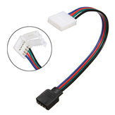 8MM 4 pines hembra Conector No Soldadura Cable para 3528 5050 RGB LED tira de luz