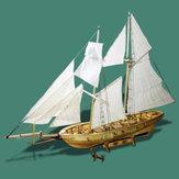 Łodzie żaglowe w skali 1: 130 Montaż modelu Drewniane dekoracje łodzi żaglowych