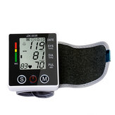 Automatic Digital Wrist Blood Pressure Monitor Home BP Heart Beat Rate Meter For Parents