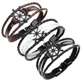 Punk Alloy Roader Armband rundleer Bangle Armband