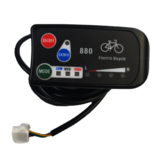 LED880 36V 48V Bicicleta Elétrica Display Meater E bike Controller Scooter Panel Parts