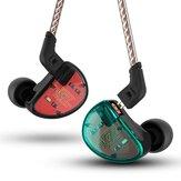 KZAS10HIFI5BADengeliArmatür Sürücü Telefon Kulaklığı 3.5mm Kablolu Kumanda Bas Stereo Kulaklık
