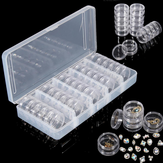 25 sztuk Pusty Jar Box Nail Decoration Gems Rhinestone Container Tiny Electronic Parts Organizer Bottle