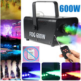 600W 220V RGB 3in1 Fog Smoke Machine Party Show LED Light + Remote Controller