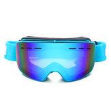 GafasdeesquíDualLenteResistentes a los arañazos Lente Marco de TPU Anti Niebla UV Protección Gafas protectoras