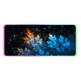 Флуоресцентные деревья Мышь Pad RGB Нескользящая утолщенная резина Клавиатура Мышь Gaming Pad Настольный коврик