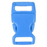 10pcs 15mm fibbie a sgancio laterale sagomate in plastica Borse per casco Cintura Chiusura per braccialetti Paracord