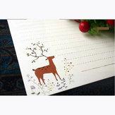Vintage Lovely Elk Fairy Forest 10 feuilles de papier à lettres 185x260mm