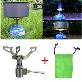 Mini Katlanır Gaz Sobası Isıtma Titanyum Brülör Taşınabilir Kampçılık Piknik Pişirme Ekipmanları