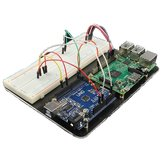منصة تجريبية لـ Raspberry Pi Model B و UNO R3 Geekcreit لـ Arduino