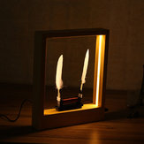 Light Time Motion Art Photo Frame LED Optical Sculpture Pulpit Magic Modern Decorations