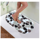 Honana BX-118 PVC Non-slip Bath Mats Pebble Shower Anti Slip Bathroom Carpet Toilet Mats Bathroom Floor Rug