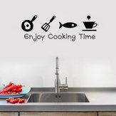 DesenhosanimadosEnjoytempodecozimento cozinha adesivos de parede pvc mural art decalques adesivos de fundo home decor