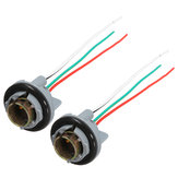 2 stuks draai licht rem led lamp socket connector kabelboom voor 1157 bay15d