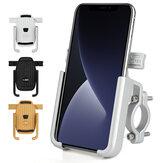 360 ° -ban forgatható egygombos zár kerékpár mobiltelefon tartó alumínium ötvözetű elektromos kerékpár telefon tartó motorkerékpár GPS tartó