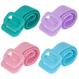 Silicone Back Scrubber Bath Belt Double-sided Massage Body Brush Cleaning Tools