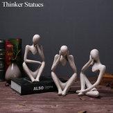 تمثال من حجر الرمل للمفكرين الراتنج التفكير الأيسر / التفكير الصحيح / تركيز المفكر نموذج ألعاب