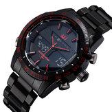 ASJ Fashion Full Metal Waterproof Sport Style Men Watch Dual Display Digital Watch
