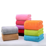 27.6x39.4inch Travel Warm Velvet Blanket Double-sided Air-conditioned Solid Bedding Towel