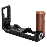 SmallRig 2387 M50 L Plate L-Bracket for Canon EOS M50 Camera With Wooden Handle Grip Arca Style Quick Plates