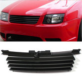 Matte Black Front Hood Grille Badgeless Grill For VW Jetta Bora MK4 1999-2004