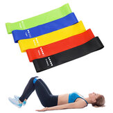 BOER 5PCS / Set Elastic Resistance Banda Rubber Loop para Yoga Pilates Stretching Home Aptidão Training Equipment