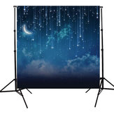 10x10FT Sky Star River Moon Night Fotografia Studio Vinyl Tło Tło