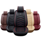 Universal Car SUV Front Seat Cover PU Leather Cushion Protector Mat Full Set