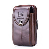 Torba Bullcaptain Men Genuine Leather Loop Belt Phone Bag