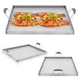 Single Stove Stainless Steel Griddle Flat Top Plancha Pan Comal Cook Camping Picnic BBQ Cooking Pan