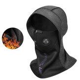 WHEEL UP 2-in-1 Sciarpa per la testa della bici Viso universale Maschera Cappellino per la testa in pile caldo invernale impermeabile antivento
