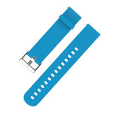 MIJOBS 20mm Silicone Rubber Watch Strap for Xiaomi Huami Amazfit 2 Youth