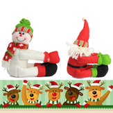 Christmas Bottle Decorations Props Doll Snowman Old Man Toys For Kids Chilldren Gift